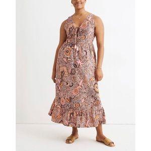 🆕 Madewell Bali Light Petal Midi Dress 12 NWT